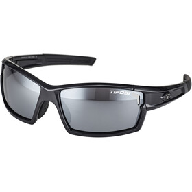 Tifosi Escalate FH Lunettes Homme, gloss black - smoke/ac red/clear